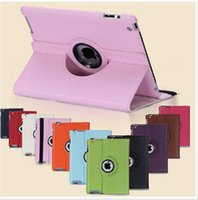 Cheap 360 Rotating PU Leather stand Case Best for ipad 2 3 4 6 air air 2 mini Retina