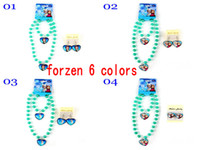 Summer gift sets - 2015 Frozen Sets Necklace Bracelet Earrings Elsa Anna Cartoon Sets Kids Children Holiday Gift Party Dress Jewelry Up
