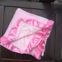 Wholesale cheap Practical winter Bedding Baby girls and boys Home satin ruffle pink brown football Minky dot blankets