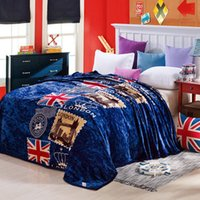flannel sheets - Home textile Soft England Flag Flano bed Sheet Flannel Blanket Brand for air sofa bedding travel flannel Fleece blanket bed sheet cm