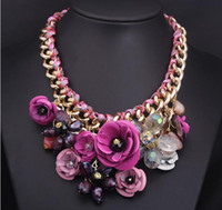 chunky necklaces - CX003Wholesale Promotion New Fashion Bib Chokers Cheap Bubble Statement Chunky Necklaces For Women Christmas Jewelry pink