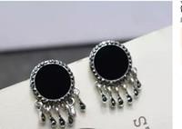 Wholesale Round black earrings