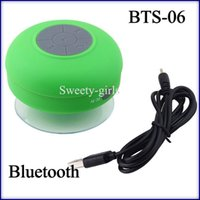 Cheap waterproof sucker shower speaker BTS-06 wireless bluetooth speakers with Mic hand free calling volume control for samsung iphone 50pcs