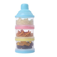 Wholesale 3 Layer Baby Infant Food Milk Feeding Powder Dispenser Container Travel Storage Box Container Products