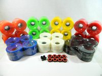Wholesale 70mm mm set longboard wheel Cruiser Multi Color Wheels High quality high quality skateboard part PU Wheel