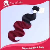 bg color - ombre color Hair Extensions huamn Hair extension Body Wave Tone b BG Human Hair Weave no shedding free tangle