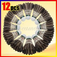 Wholesale New Black Goose Feather Shuttlecocks Birdies Badminton Balls Game Play Sport Training