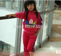 track suit - new children s sports suit Long sleeved sweater zipper track suit two