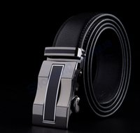 belt buckle shop - New Arrival Auto Buckles Genuine Leather Men Belts Brand Luxury Automatic Leather Waistband shopping