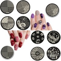 Wholesale hehe Stainless Geometric Nail Image Stamp Stamping Plates Template