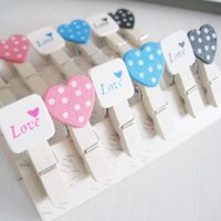 Wholesale 2015 Fashion Lovely cute Peach Heart Craft Wooden Banner Clips Pegs Prefect for Party Event Wedding Decoration JJ0055