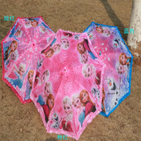 Wholesale Frozen umbrellas girl umbrellas girl lace straight handle Christmas gift an umbrella children umbrella Household Sundries