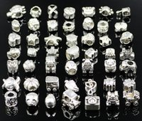 pandora style beads - 200pcs beads charms Mix Style Big Hole Loose Beads charm For Pandora DIY Jewelry Bracelet For European