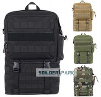 Wholesale Outdoor Travel ROGISI D Molle Tactical Sports Backpack Shoulder Bag Airsoft Military Hiking Camping Backpack order lt no tr
