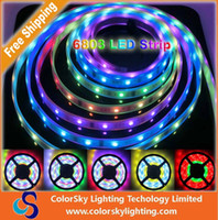 6803 led strip Bande magique de LED de couleur magique de rêve 5050 RGB, DC12V 30LED / m IP67 étanche Bande de LED intelligente.