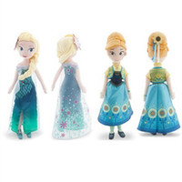 Wholesale 2016 New Arrival cm Fever Princess Anna And Elsa Doll CM Musical Let It Go Hot Toys TOY123
