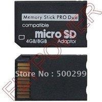 Gros-Micro SD TF Memory Stick MS Pro Duo adaptateur de carte par Livraison gratuite; 100pcs / lot