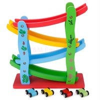 Wholesale Brand New Kids Toys Wooden Colorful Slider Jungle Zig Zag Car Blocks Toy For Children Education Toys SV014558