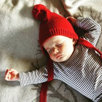baby red worms - Cotton New Fashion Spring Winter Kids Children Supre Baby Crochet Worm Red Blue Grey Beige Hat Handmade Quality Hats