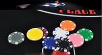 Wholesale Plastic Texas Poker Chips Dice Point Gambing Chips Club Leisure Games