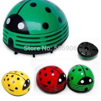 Wholesale Novelty Mini Red Ladybug Handheld Vacuum Cleaner HotSelling Items Desktop Cleaner Car Dust Collector