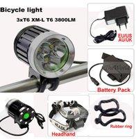 bike light lumen - accesorios bicicleta luz bicicletBicycle bike light CREE T6 lumen LED Headlamp Headlight kit Modes rechargable Battery Pack