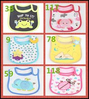 bib model - 99 models Infant saliva towels layer toddler Baby bibs Baby burp cloths kids cotton handkerchief children animal bib J102701