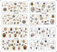 nail tattoo sticker - BOT Series sheet Different design WATER DECAL NAIL ART NAIL TATTOOS STICKER individually packaging