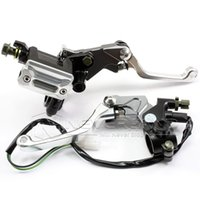 "Cheap Silver Motorcycle 7 8"" Brake Master Cylinder Reservoir Lever For Yamaha WR 450 YZ 125 TTR 250 600 Free Shipping C20"