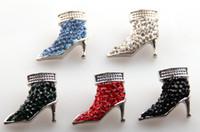 achat en gros de chaussures à talons hauts charmes-L'expédition libre de mode d'alliage d'argile et de strass dame de haut talon de chaussures de bouton en métal charme de 1,8 2cm pour BRICOLAGE pour bracelet,collier