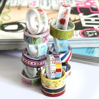 Wholesale New rolls of Kawaii Lovely Cartoon Tape Scrapbooking Adhesive Paper Sticker PVC