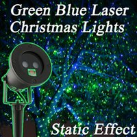 Wholesale Waterproof Outdoor Holiday Laser Light Show Projector Green Blue Garden Christmas Laser Lights Decorations For Home Static effect