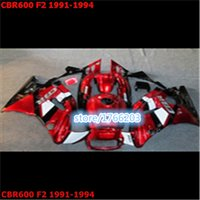 Wholesale Complete fairing kit with tank cover fit for CBR600 F2 CBR600 F2 CBR Red Black