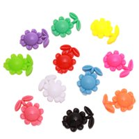 Wholesale 200pcs New Colours Sunflower Hair Barrettes Clips Findings Charms Plastic Hair Ornaments Accessories mm