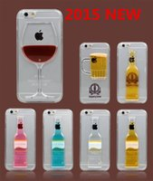 beer phone - 3D Red Wine Cup Cocktail Beer Liquid Case Cover For Apple iPhone inch Plus quot Phone Cases Back Covers mobile phone shell