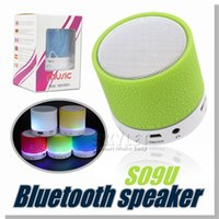 bass work - S09U Mini speaker Bluetooth With Luminous Support Micro TF Card Long Work Time Support Music Player Super Bass Speaker Retail Package
