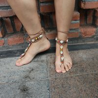 Wholesale 2016 United States turned European and American dance yoga anklets anklet sandals foot jewelry Mittens