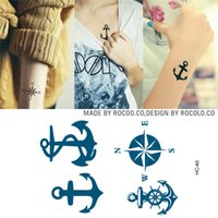 anchors for arms - HC1040 Simulation Tattoo Totem For Men And Women Arm Waterproof Fake Tattoo Sticker Anchors Pattern Flash Temporary Tattoo