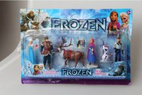 Wholesale Frozen toys Movies Princess Elsa Anna Olaf Snow Romance Doll Ornaments Set Cartoon Toys christmas gift