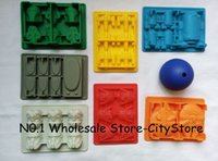 Wholesale 8pcs Death Star Wars Darth Vader Storm Trooper Falcon X Wing Hans Solo Boba Fett Helmet Silicone Mold Ice Cube Tray Chocolate
