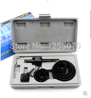 Wholesale 11 sets of gypsum board openings woodworking hole saw kit mounted light wood door opening tools order lt no track