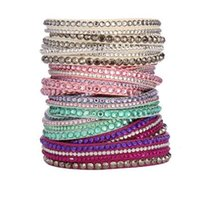 Wholesale New Fashion multilayer Wrap Bracelets Slake Taupe Rock Deluxe Leather Bracelets for women With Crystals Couple Jewelry Charm Christmas Gift