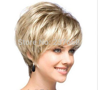 Wholesale Fashion wig New sexy Women s short Brown Blonde Natural Hair wigs