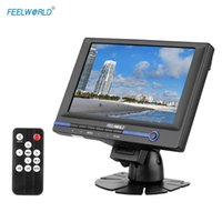 Wholesale FEELWORLD FW639AH quot TFT LCD HD Monitor for Video DSLR Camera with HDMI VGA AV Input with Car Adapter Remote Controller hade