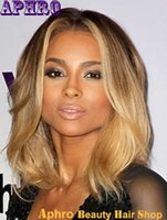blonde full lace wigs - Hot sale Brazilian Virgin hair blonde full lace ombre wigs density blonde hair wigs