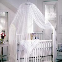 baby bed mosquito net - Baby Mosquito Net Baby Toddler Bed Crib Canopy Netting White Color M M