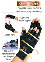 art therapeutic - Copper Hands Men Women Black Copper Hands Arthritis Gloves Therapeutic Compression For Sports For Health Care With Logo Package