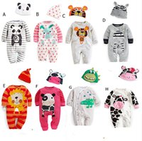 Wholesale Spring and summer baby clothes long sleeve Romper climb leotard cotton cartoon tiger suit children s clothing