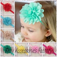fashion hair ornament - 20pcs Fashion Baby Chiffon Pointed Flower Headbands Toddler Infant chiffon Headband Hair Band Headwear Christmas Hair Ornament Accessories