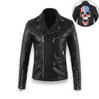 aviation leather jackets - Fall New Skull Leather Jacket Men Jaqueta De Couro Harley Motorcycle Jacket Pu Leather Jacket Men Aviation Avirex Jacket